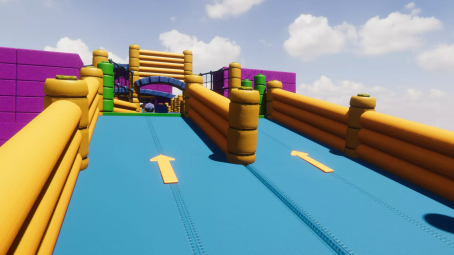 Fun obstacle course for unity engine