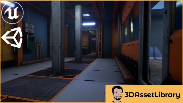 Sci-Fi Interior Pack Vol 1 for Unreal and Unity