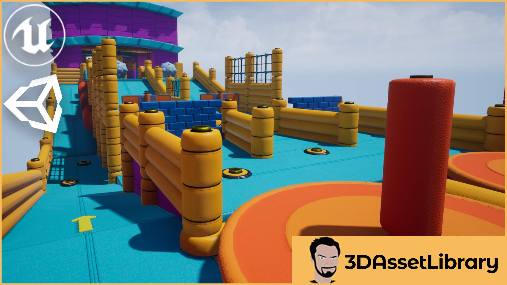 Fun Obstacle Course for Unreal and Unity