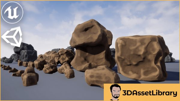 Stylized Rocks For Unreal And Unity
