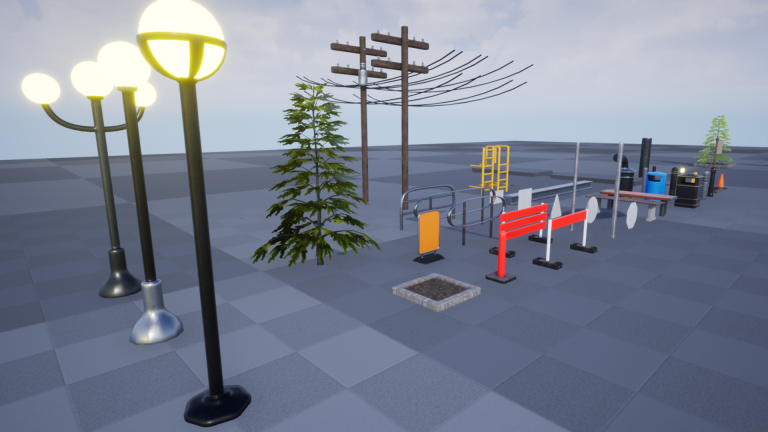 Street Props V1 For Unreal Engine Vol 1
