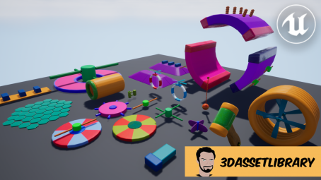 Fun Obstacle Course Expansion For Unreal Engine Vol 1