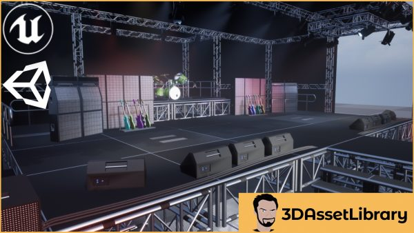 Stage Vol 1 For Unreal and Unity