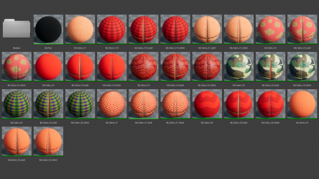 Fabric materials for unreal engine