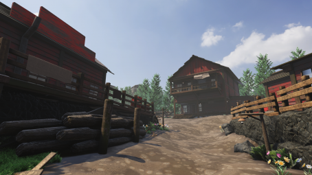 Country town for unity engine