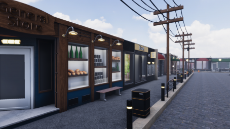 Store fronts for unity engine