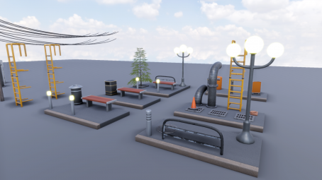 Street Props for unity engine
