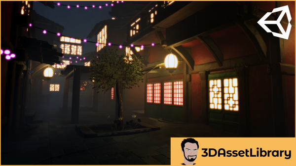 Fantasy town for unity engine