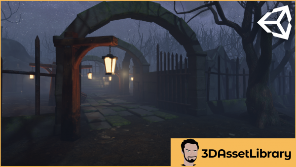 Cemetery assets for unity engine