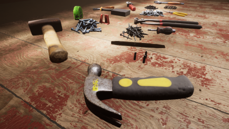 Photo-scanned tools for unreal engine