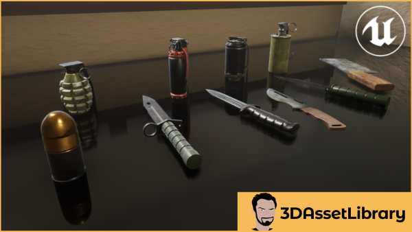 Knives and Grenades for unreal engine