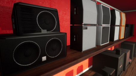 Speakers and cabinets for unreal Engine