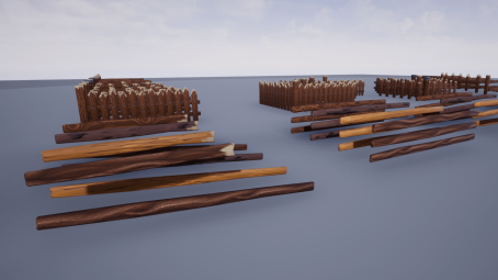 Stylized fence for unreal engine