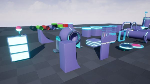 Fun Obstacle Course Exp 2 for unreal